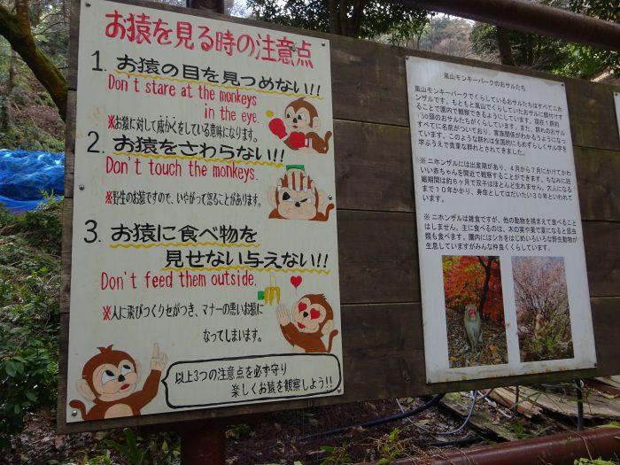 嵐山モンキーパーク 注意事項